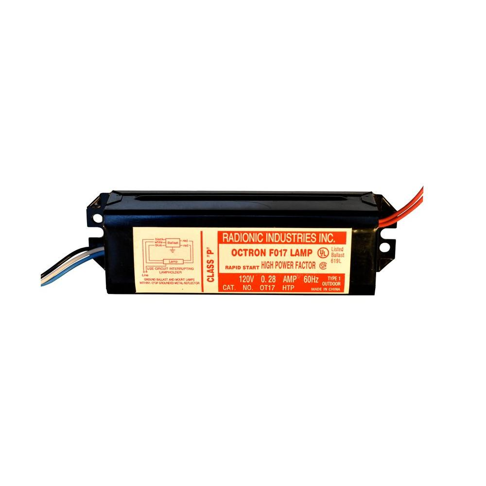 medium resolution of octron 17 watt t8 high power factor magnetic replacement ballast for f17t8 lamp