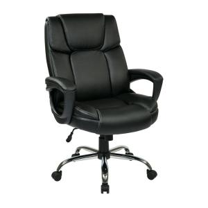 big man chairs plastic patio chair work smart espresso eco leather s executive office black
