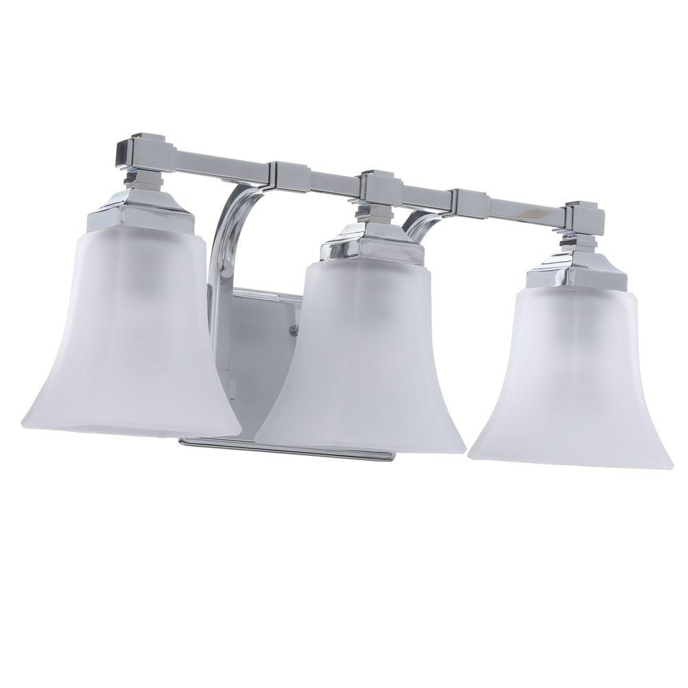hight resolution of hampton bay 3 light chrome vanity light with etched glass shades
