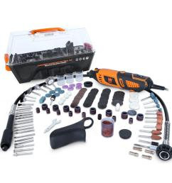 wen 1 3 amp variable speed steady grip rotary tool with 190 piece accessory kit [ 1000 x 1000 Pixel ]