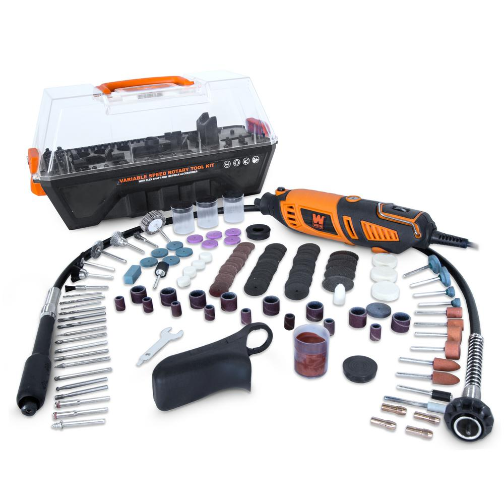 hight resolution of wen 1 3 amp variable speed steady grip rotary tool with 190 piece accessory kit