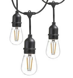 newhouse lighting 25 ft outdoor string lights commercial grade led hanging lights 9 light [ 1000 x 1000 Pixel ]