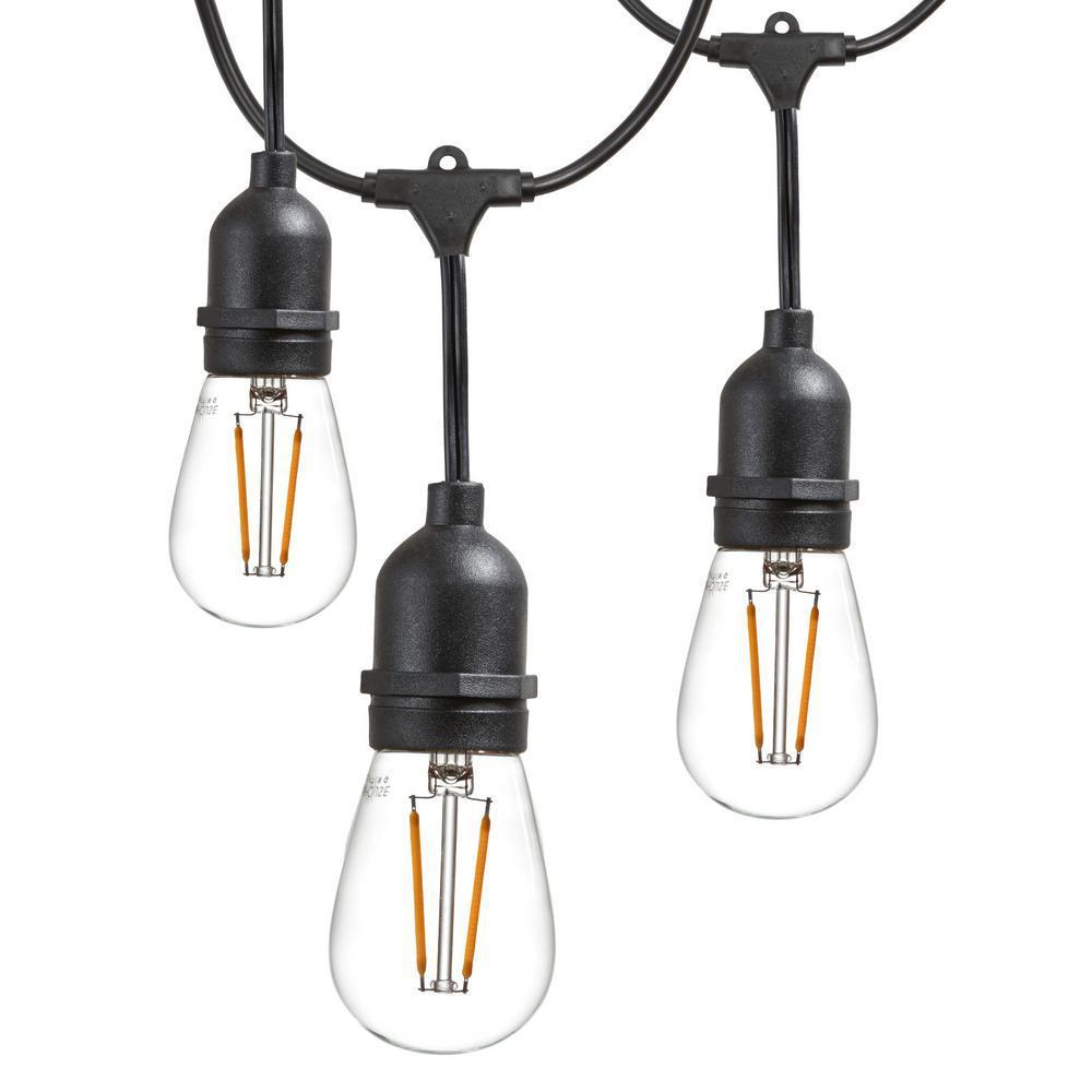 hight resolution of newhouse lighting 25 ft outdoor string lights commercial grade led hanging lights 9 light
