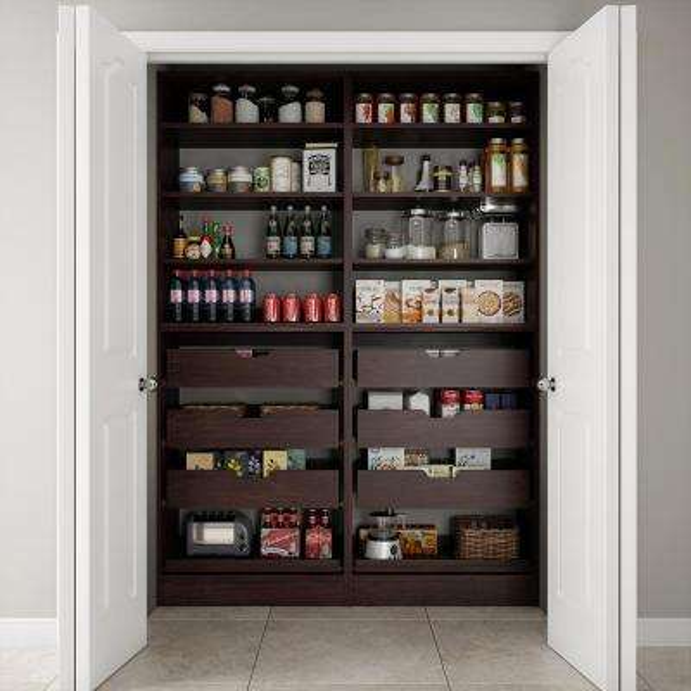 kitchen pantry organizers bench with back dark brown wood storage organization 60 in w x 15 d 84 h dual