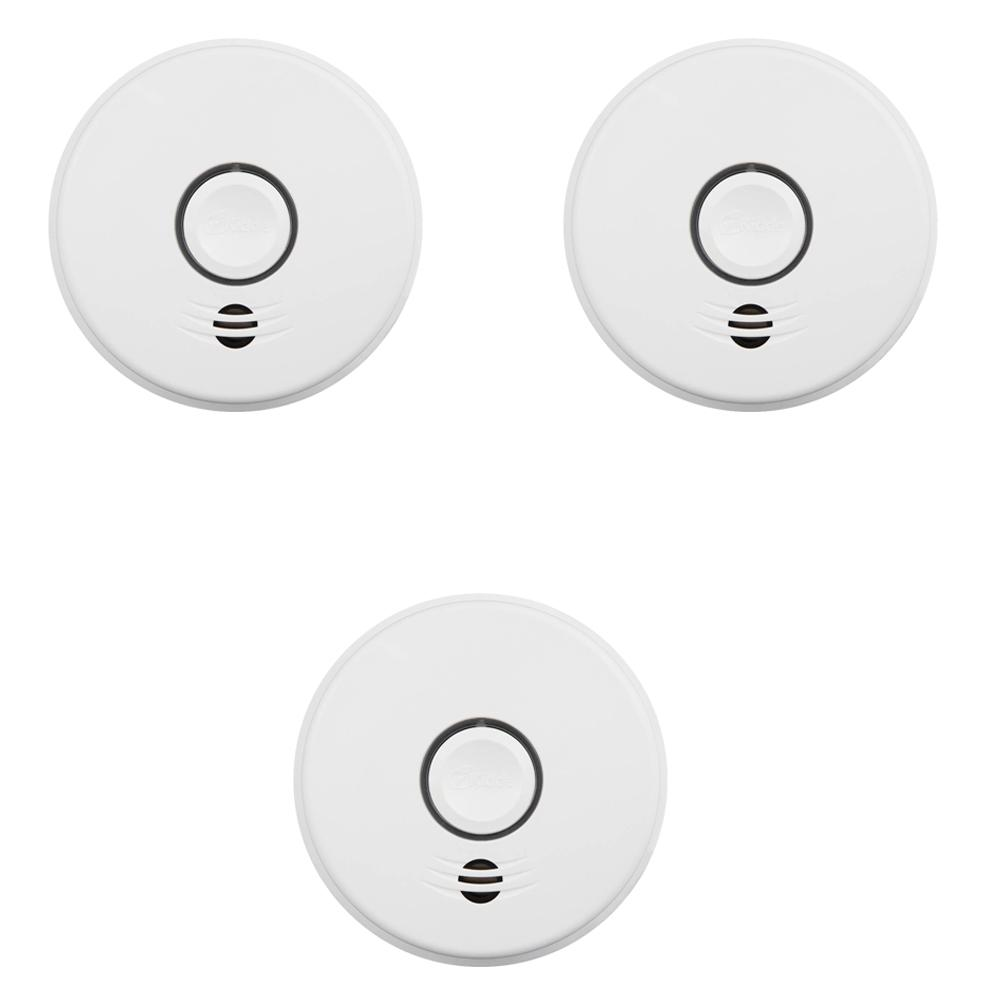 hight resolution of 10 year sealed battery smoke detector with intelligent wire free voice interconnect 3 pack