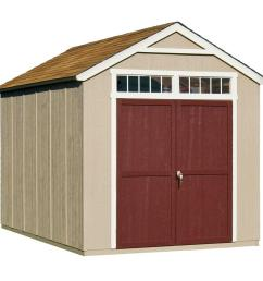 handy home products majestic 8 ft x 12 ft wood storage shed [ 1000 x 1000 Pixel ]