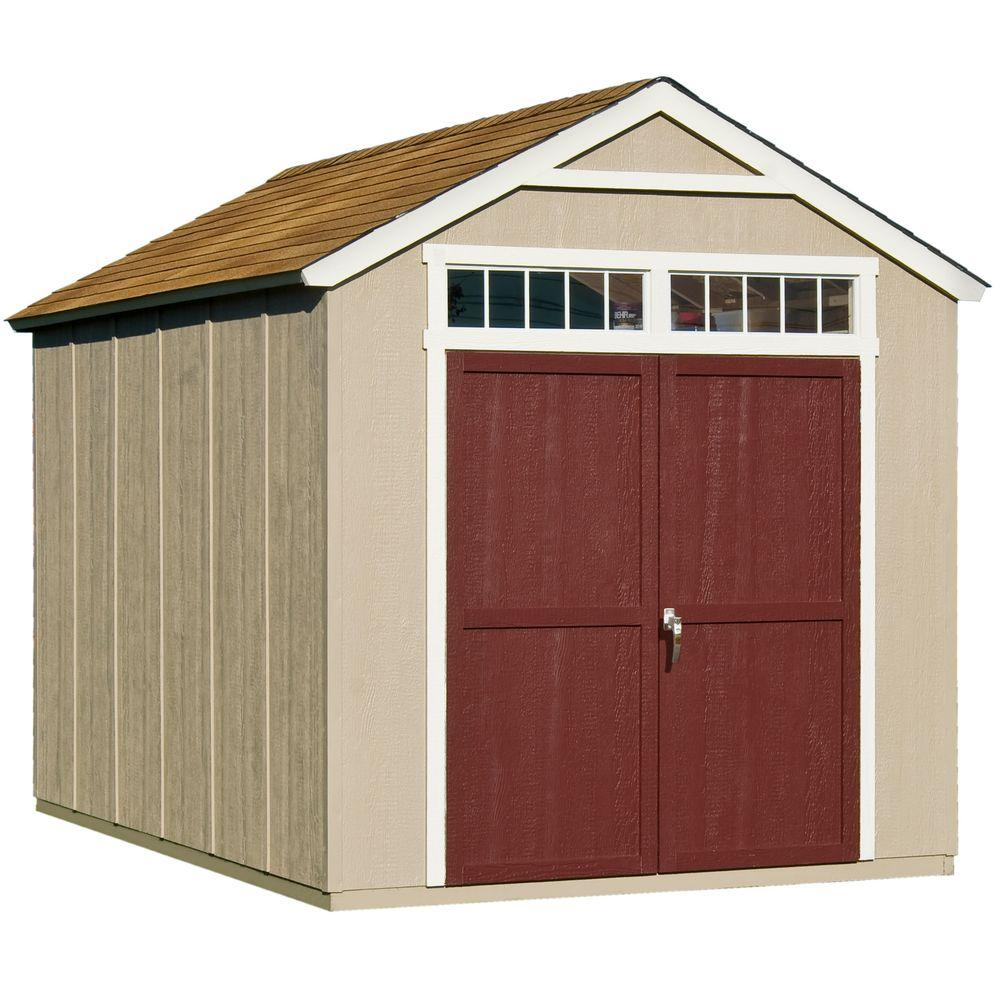 medium resolution of handy home products majestic 8 ft x 12 ft wood storage shed