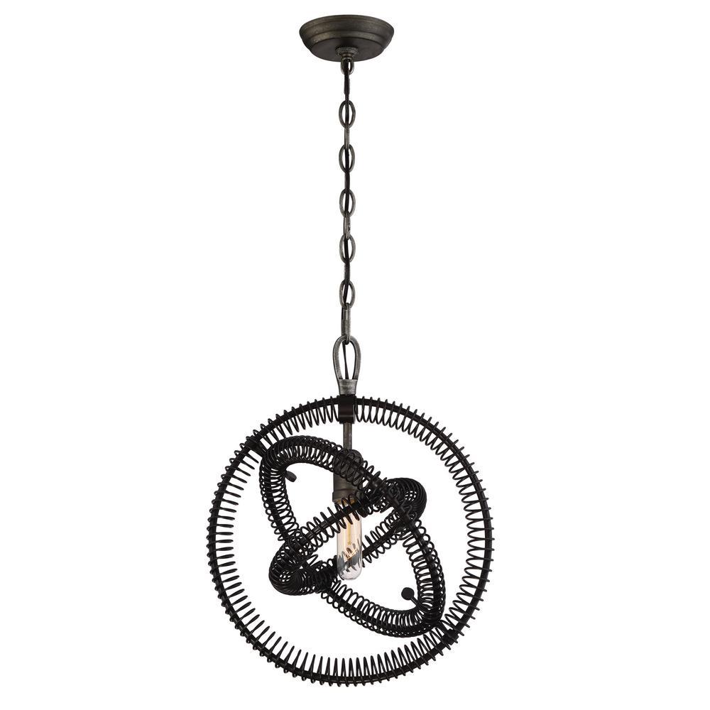 Eurofase Orbita Collection 1-Light Bronze Pendant-31386