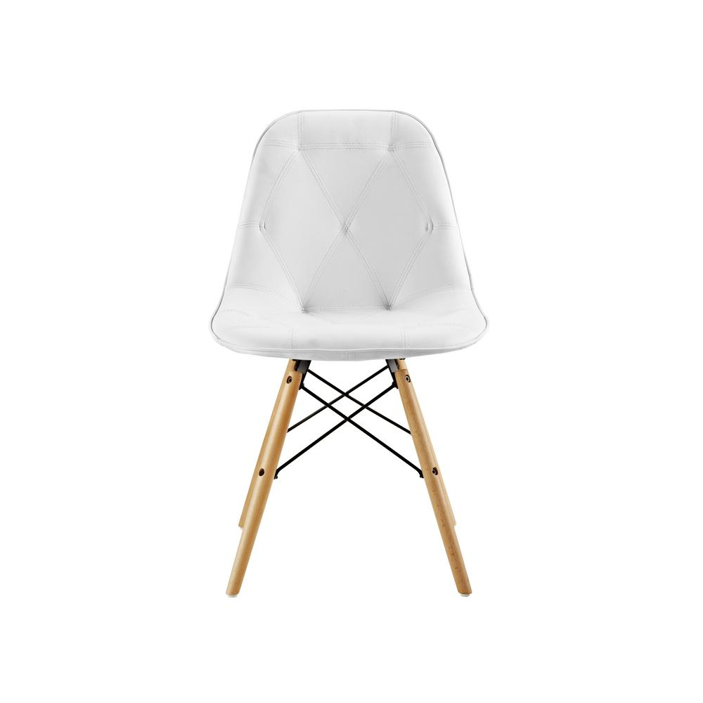 white tufted chair kitchen chairs target walker edison furniture company faux leather set of 2