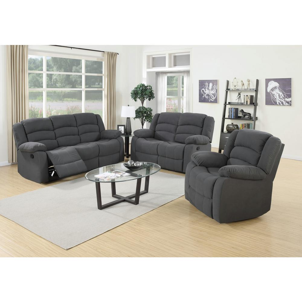 3Piece Blue Gray Living Room SuiteS6022  The Home Depot