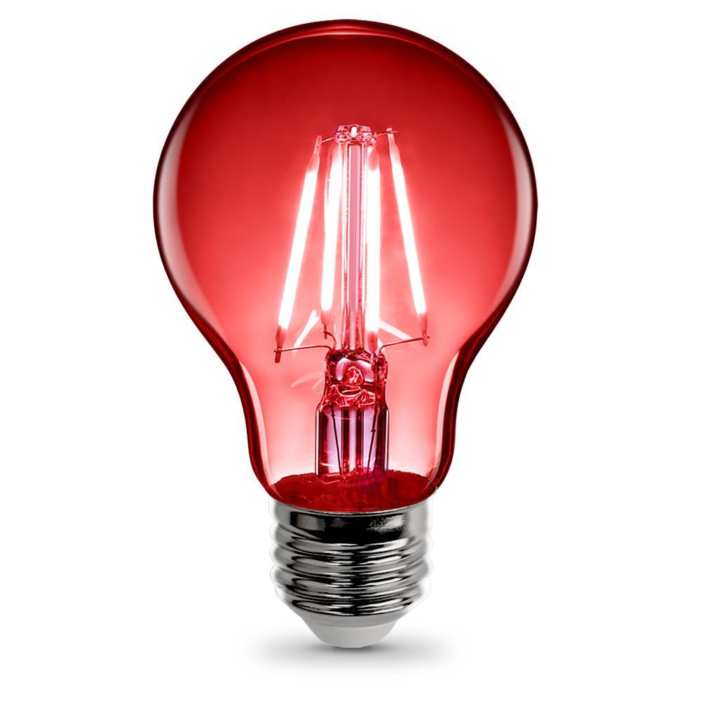Feit Electric 36watt Red A19 Filament Led Light Bulb