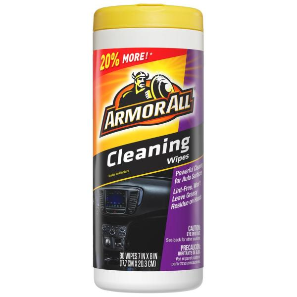 Armor All Cleaning Wipes 30count17497 The Home Depot