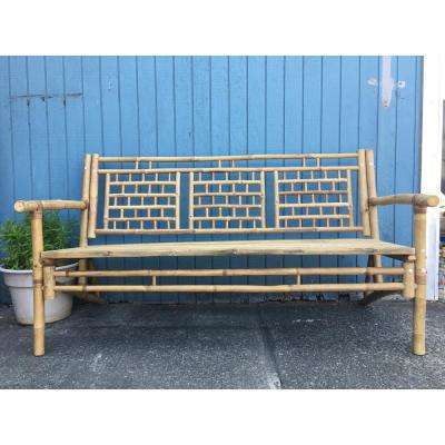 bamboo couch and chairs cheap chair covers for a wedding furniture the home depot natural standard square pattern bench