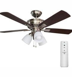 hampton bay vaurgas 44 in led brushed nickel smart ceiling fan with hampton bay ceiling fan wiring ceiling systems [ 1000 x 1000 Pixel ]