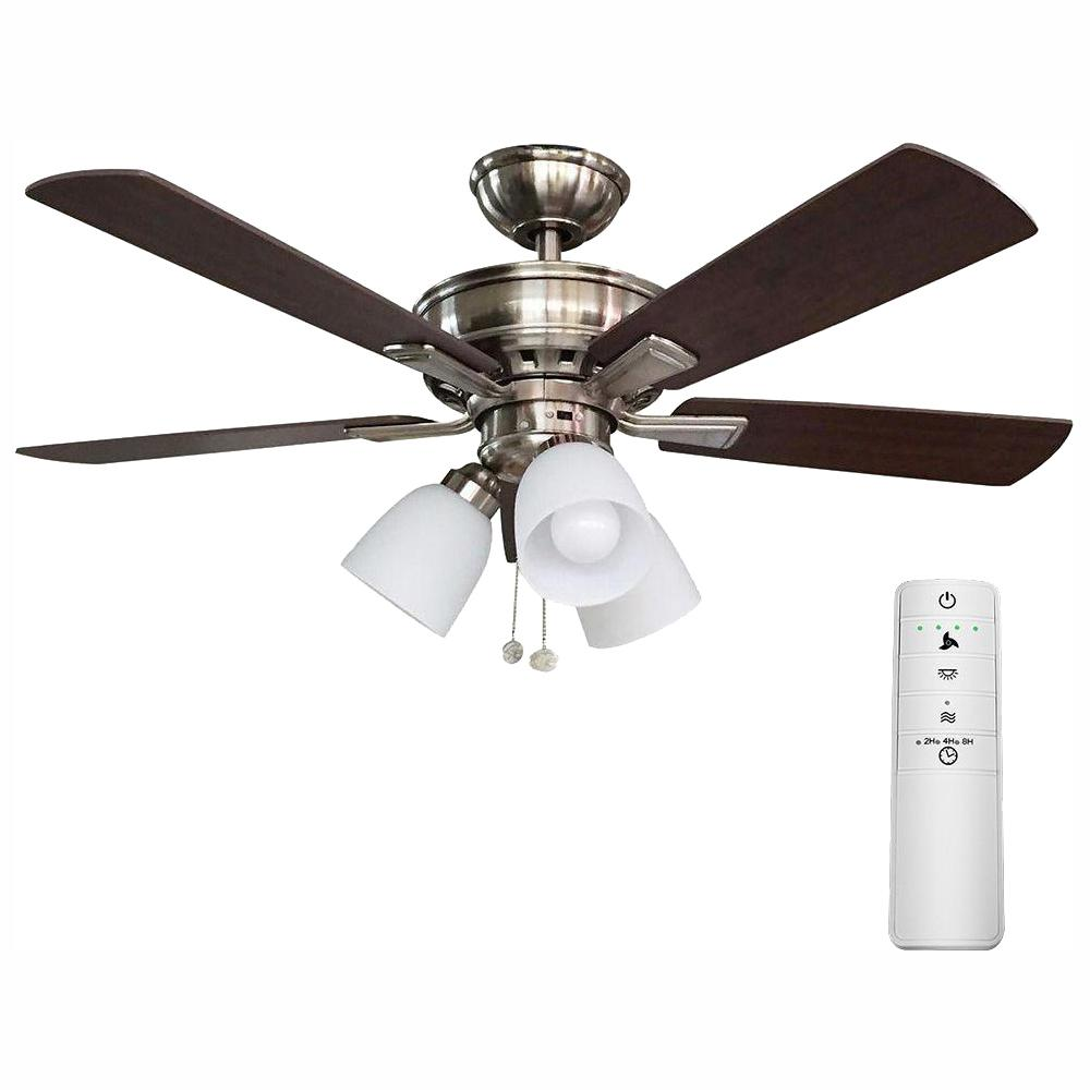 medium resolution of hampton bay vaurgas 44 in led brushed nickel smart ceiling fan with hampton bay ceiling fan wiring ceiling systems