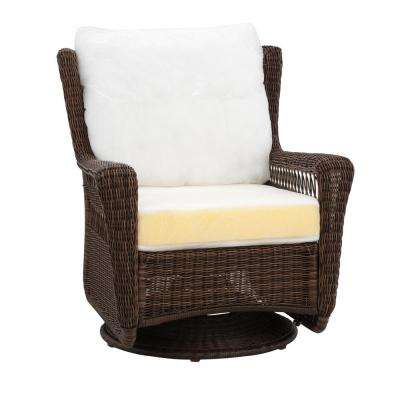 wicker swivel patio chair modern adirondack plans furniture uv protected outdoor lounge park meadows brown custom rocking with cushions included choose your