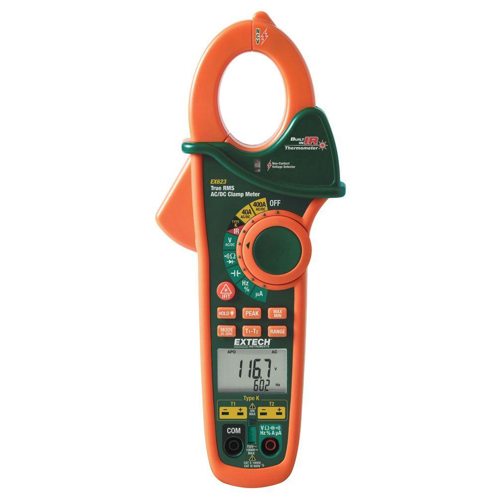 hight resolution of extech instruments manual clamp meter ac dc true rms dual type k ir