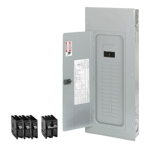 small resolution of br 200 amp 30 space 40 circuit indoor main breaker loadcenter with cover value pack 3 br120 1 br230