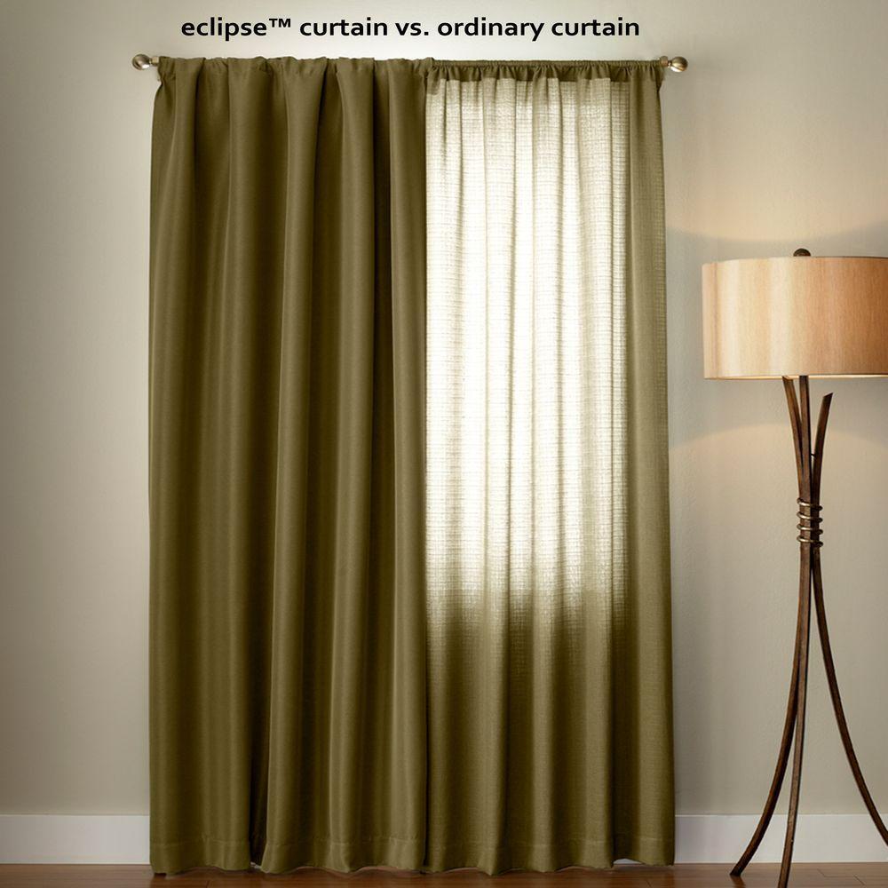 Eclipse Microfiber Blackout Navy Grommet Curtain Panel 63