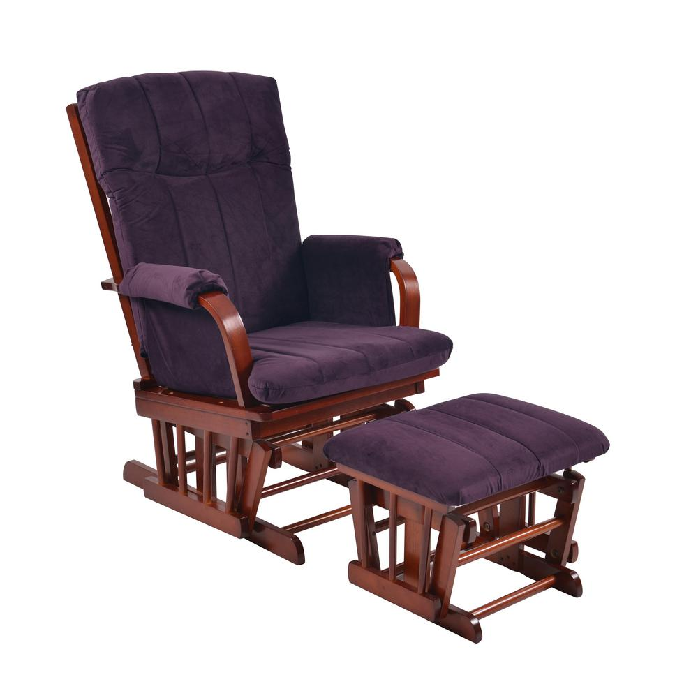 microfiber club chair with ottoman gaming imperator artiva home deluxe purple cherry wood glider and set