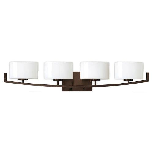 small resolution of hampton bay burye 4 light oil rubbed bronze vanity light with etched white glass shades