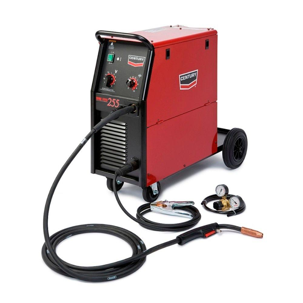 medium resolution of century 255 amp wire feed 255 mig wire feed welder with 250l magnum gun and gas