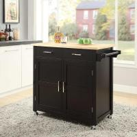 Macie Black Small Kitchen Cart-SK19250A1-BK - The Home Depot