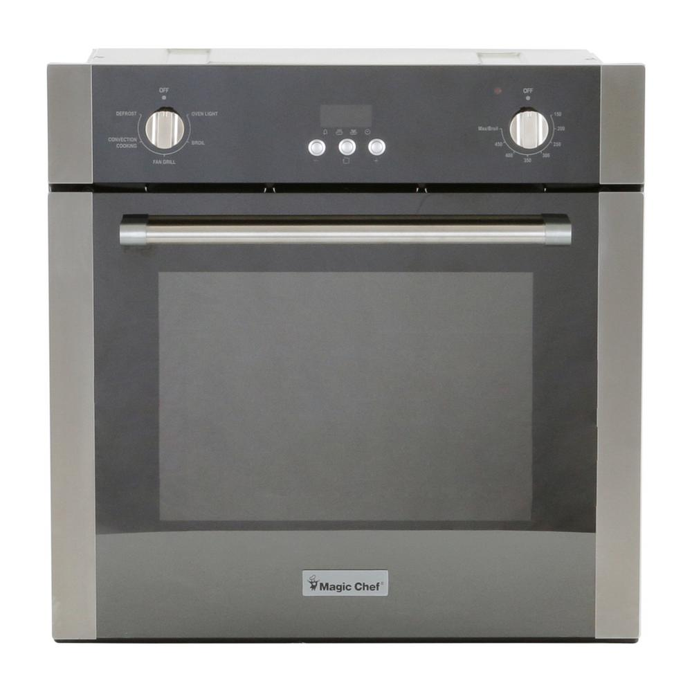 hight resolution of single electric wall oven with convection in stainless steel