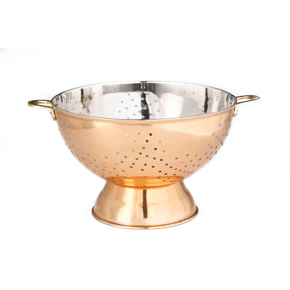 kitchen colander american standard silhouette sink old dutch stainless steel 769 the home depot