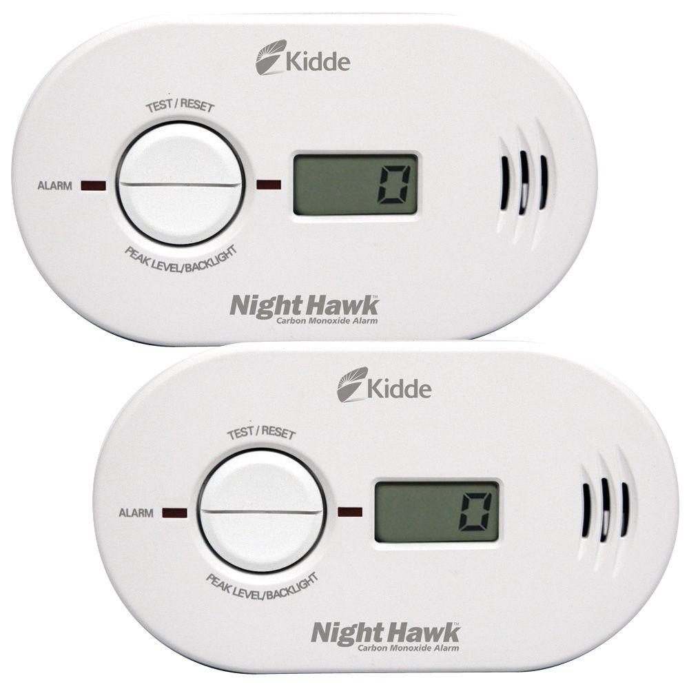 Kidde Battery Operated Carbon Monoxide Detector with Digital Display 2pack21027465  The