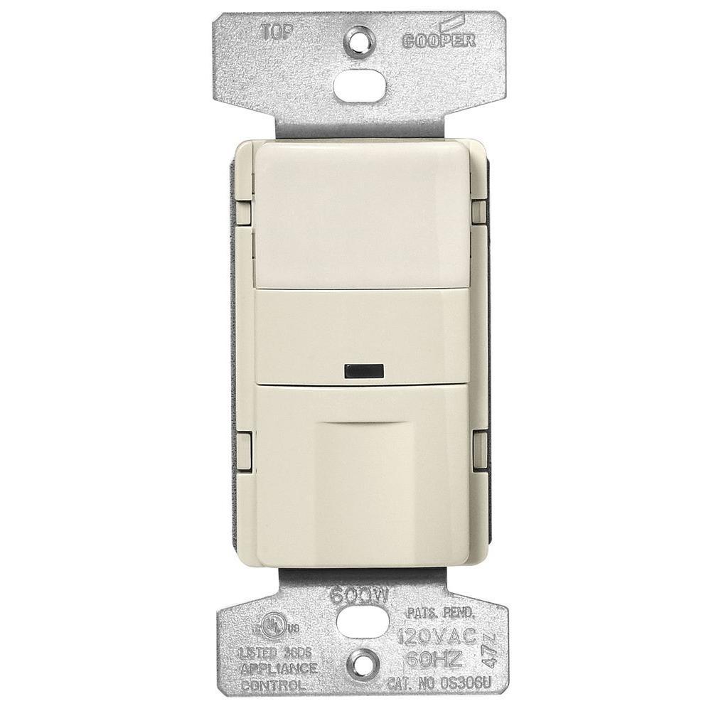 motion sensor light switch wiring diagram australian house eaton activated occupancy wall white os310u 600 watt single pole infrared mount vacancy almond