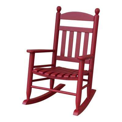 wood rocking chair styles stainless steel hs code red chairs patio the home depot youth slat outdoor