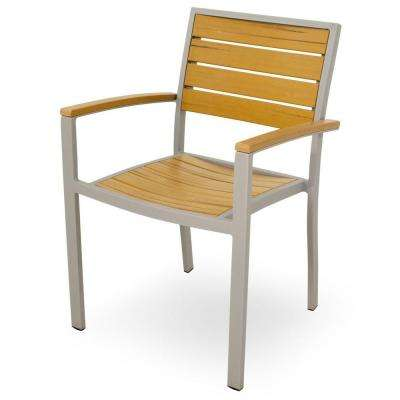 chair design basics molded plastic outdoor chairs dining patio the home depot textured silver all weather aluminum arm in plastique slats