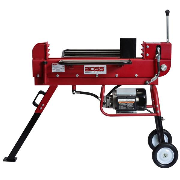 Boss Industrial 10-ton 15 Amp Electric Log Splitter