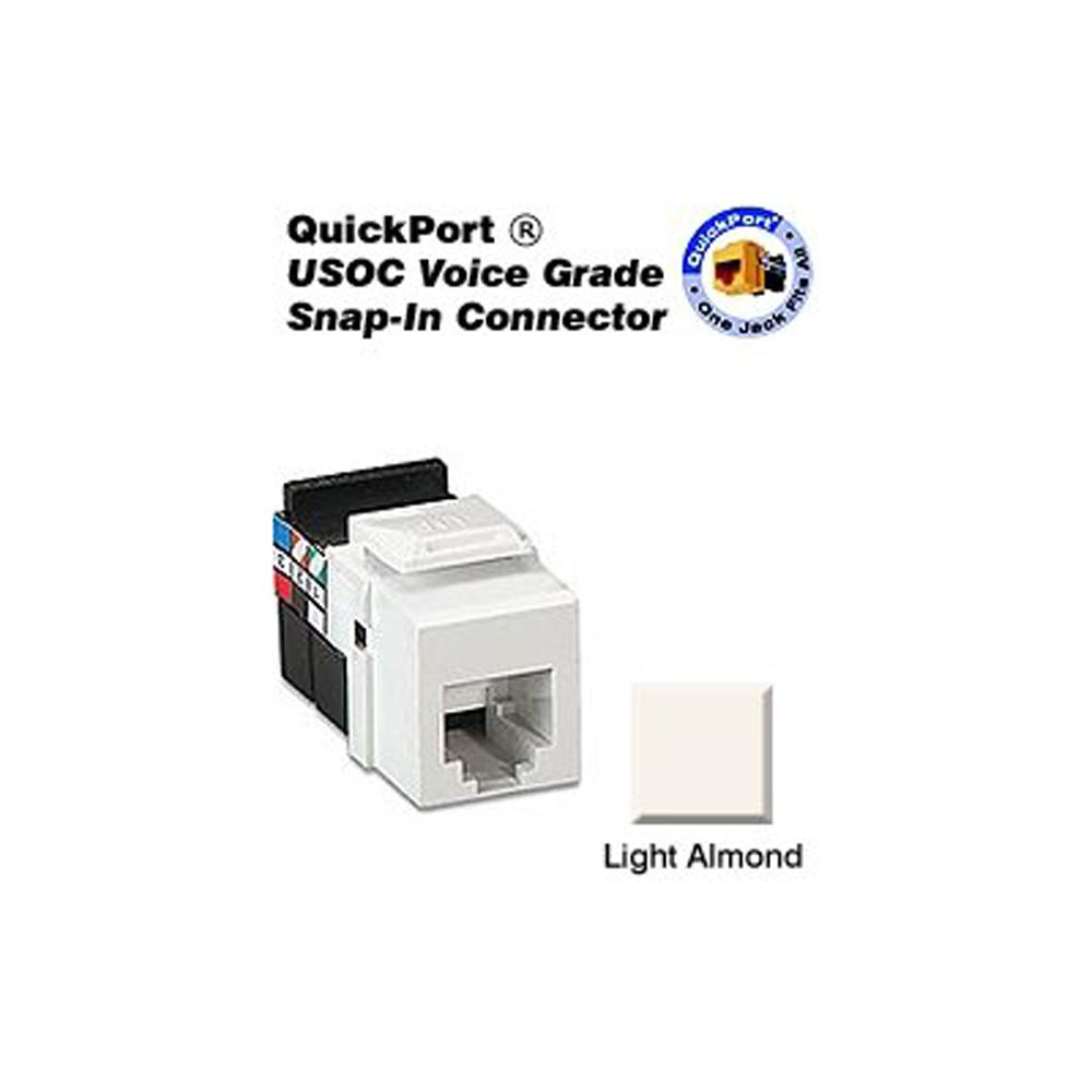 hight resolution of quickport 8p8c voice grade connector light almond