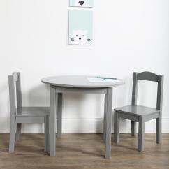 3 Piece Table And Chair Set Baby Booster Portable Tot Tutors Inspire Grey Kids Round Tc763