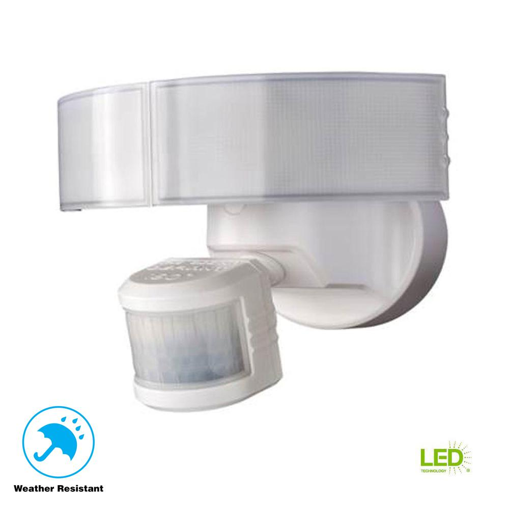 medium resolution of defiant 180 degree white led motion outdoor security light