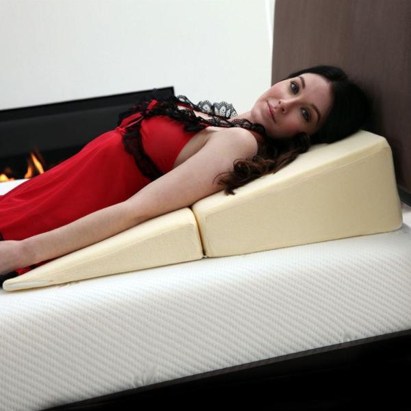 Remedy Natural Pedic Folding Wedge Memory Foam Pillow-64