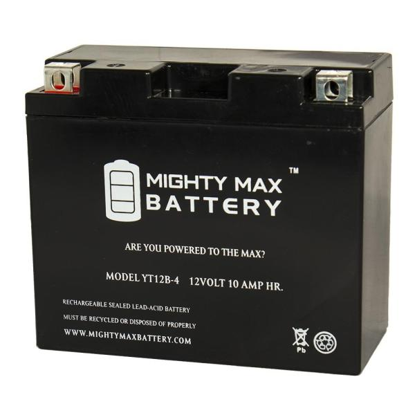 Mighty Max Battery 12-volt 10 Ah 125 Cca Rechargeable Sealed Lead Acid Sla Powersport
