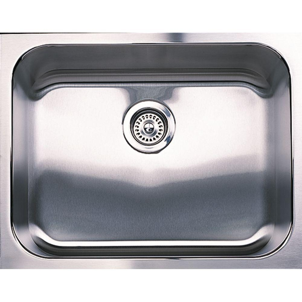 single bowl stainless kitchen sink resurfacing countertops blanco spex plus undermount steel 23 in