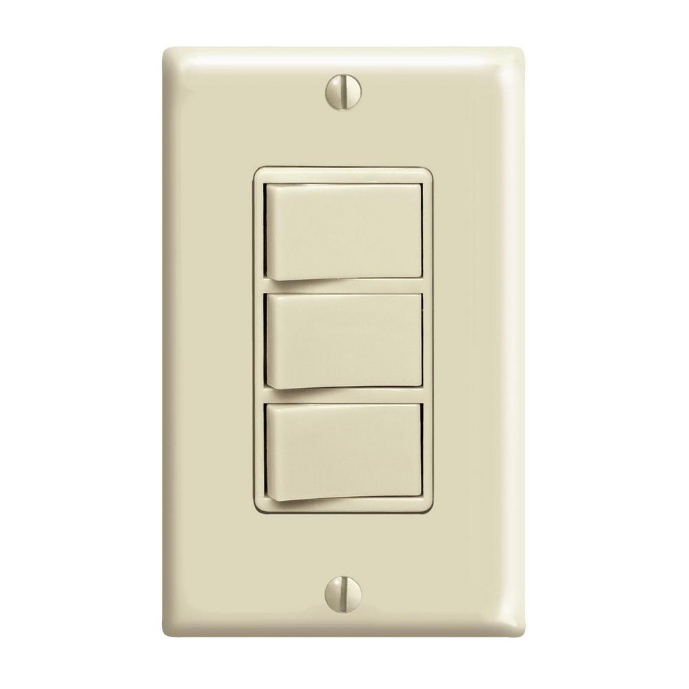 hight resolution of 15 amp commercial grade combination three single pole rocker switches ivory