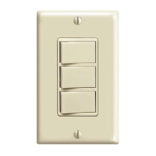 small resolution of 15 amp commercial grade combination three single pole rocker switches ivory
