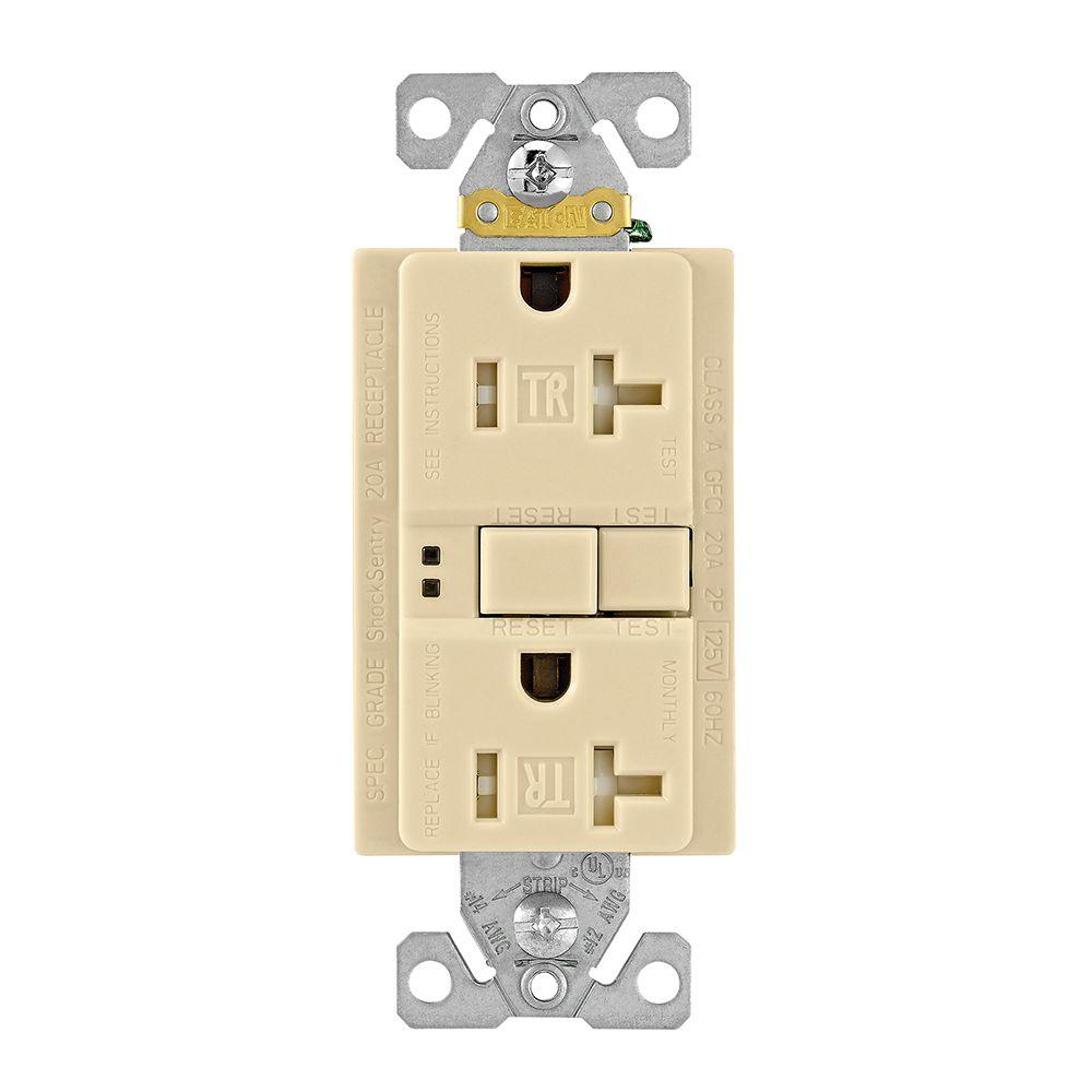 hight resolution of shop cooper wiring devices 20amp ivory decorator electrical outleteaton gfci self test 20a 125v tamper resistant