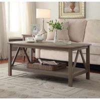 Linon Home Decor Titian Rustic Gray Coffee Table ...
