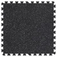 Groovy Mats Grey Speck 24 in. x 24 in. Rubber Comfortable ...