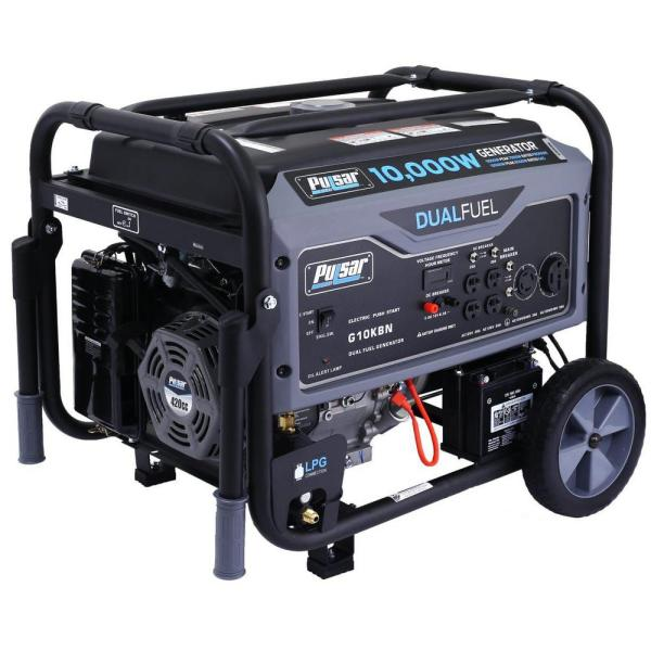 Pulsar 10 000 8 000-watt Dual Fuel Gasoline Propane Powered Electric Recoil Start
