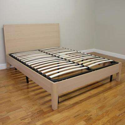 Europa Twin Size Wood Slat And Metal Platform Bed Frame