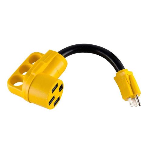 small resolution of dogbone rv electrical adapter 15 amp male to 50 amp female with