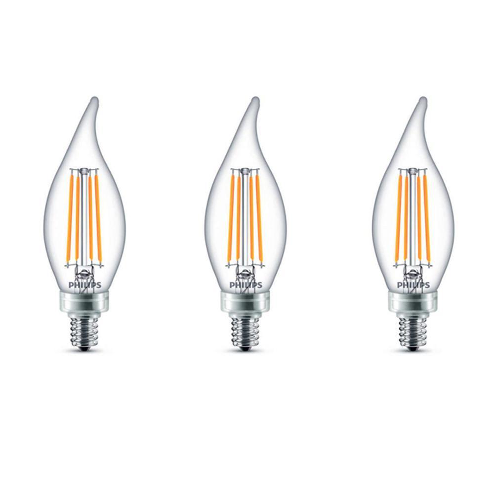 Philips 40-Watt Equivalent B11 Dimmable Edison Glass LED