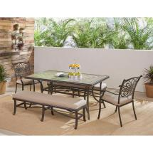 Envelor Hanover Patio Monaco Aluminum 5-piece Bronze